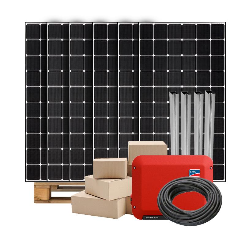 Zonnepanelen pakket op maat met LG neon2 345W zonnepanelen