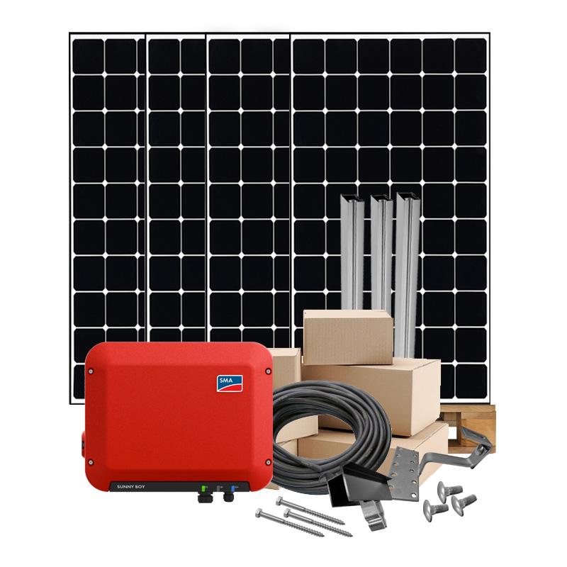 Zonnepanelen pakket op maat met LG neonR 370W zonnepanelen