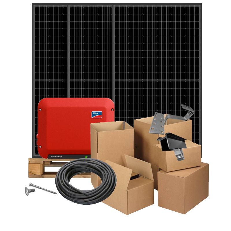 Zonnepanelen pakket op maat met S-Energy Half-Cut Mono Black 320Wp zonnepanelen