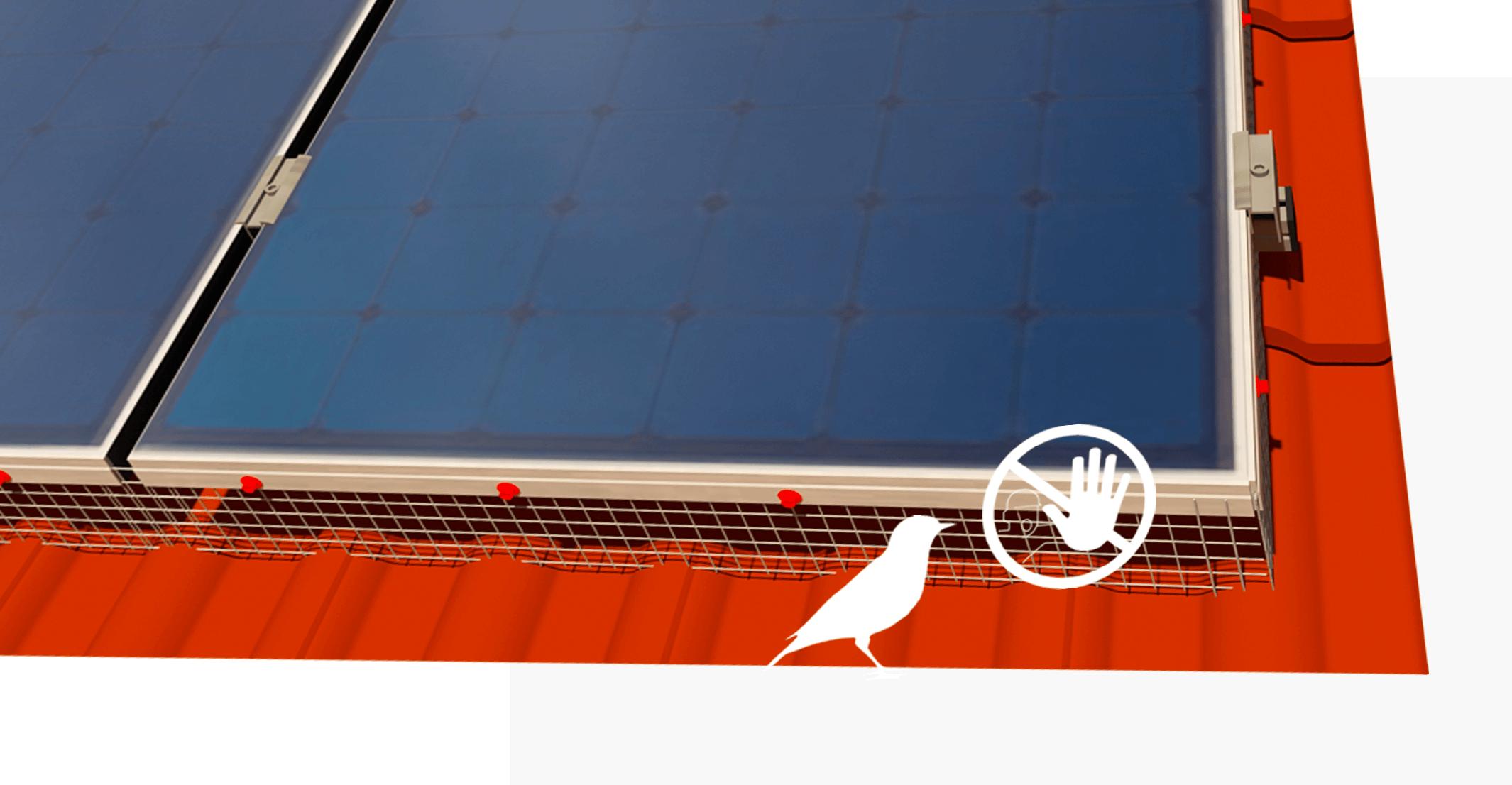 vogelwering voor zonnepanelen
