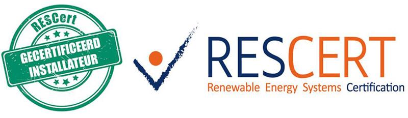 solarwinkel is rescert gecertificieerd zonnepanelen installateur